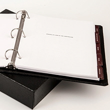 Binder with Slipcover-220